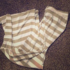 Michael Kors long striped skirt